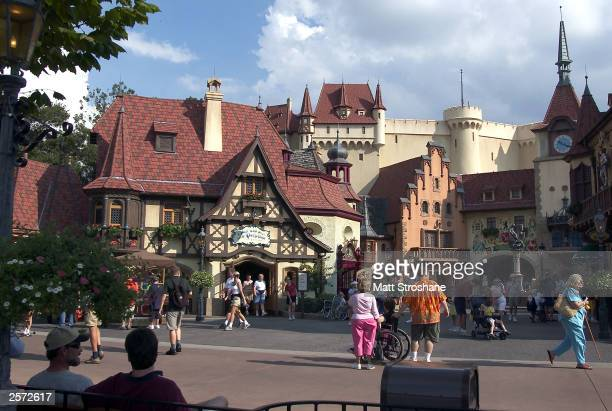 The German Pavillion is shown at Walt Disney World's Epcot October 8 2003 near Orlando Florida