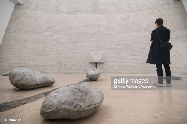 The German pavillion represented by the artist Natascha Süder Happelmann is seen at Giardini area ahead of the 58th International Art Biennale on May...