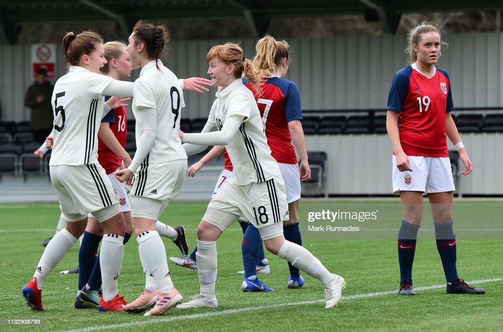 GBR: Norway U17 Girl's v Germany U17 Girl's - UEFA Elite Round
