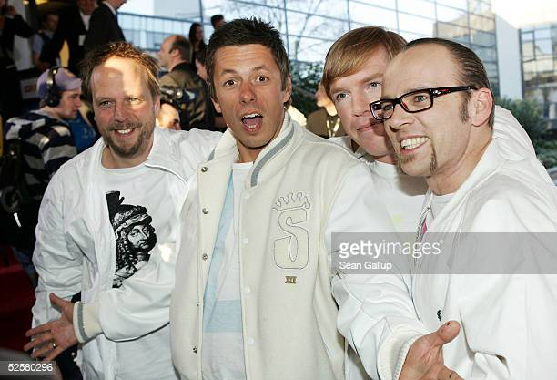 "The German rap band Die Fantastischen Vier arrive for the ""ECHO"" 2005 German Music Awards at the Estrel Convention Center on April 2, 2005 in Berlin,..."