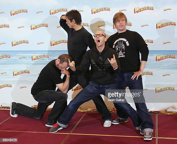 "The German rapper band Die Fantastischen Vier attend the photocall to the animated children's movie ""Madagascar"" June 10, 2005 in Berlin, Germany."