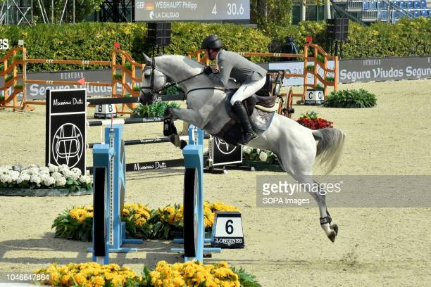 The German rider Philipp Weihaupt during his participation in the Queen's Cup Segura Viudas during the CSIO Barcelona 2018 at the Real Club de Polo...