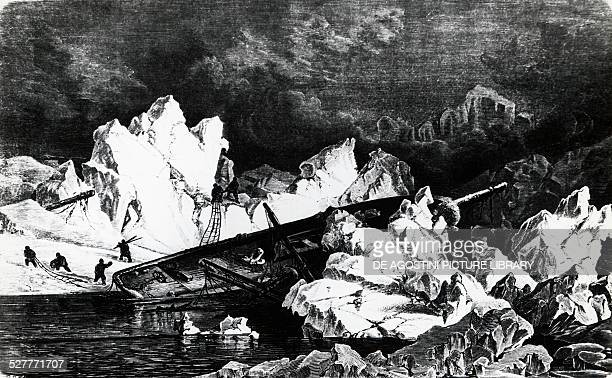 The German ship Hansa in the ice during the 1869 polar expedition Germany 19th century Vienna Österreichische Nationalbibliothek