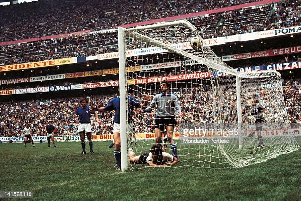 The German striker Gerd Muller has scored the third goal in the semi final match of the World Cup Championship, played between Italy and West...