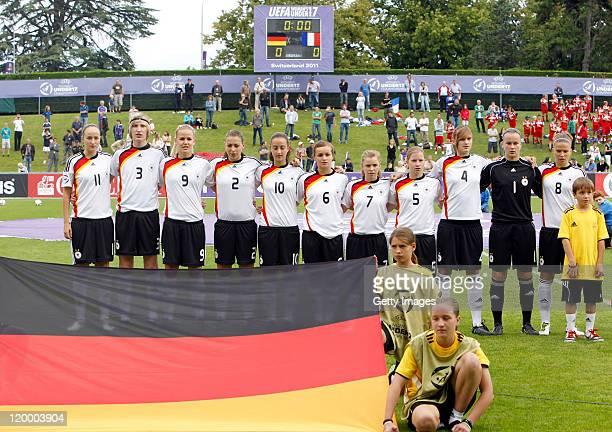 The German Team, Fabienne Dongus , Liesa Seifert , Lena Petermann , Sarah Romert , Sara Dabritz , Lina Magull , Linda Dallmann , Franziska Brockl ,...
