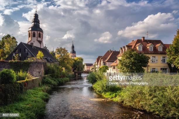 the german town of ettlingen - karlsruhe stock-fotos und bilder