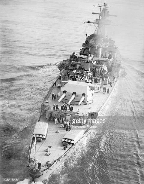 The German Warship Admiral Graf Spee Crossing The English Channel From North To South To Reach Spain On April 20 1939 The Deck Is In Wood By Esthetic...