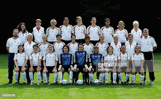 The German Women Football team Pia Wunderlich Kerstin Stegemann Conny Pohlers Ursula Holl Nadine Angerer Silke Rottenberg Petra Wimbersky Inka Grings...