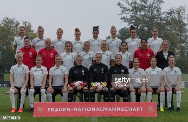The german women national team while the team photo Rear row Joelle Wedemeyer Tabea Kemme Leonie Maier Linda Dallmann Hasret Kayikci Svenja Huth Lina...