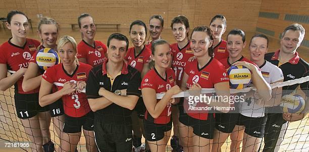 The German Womens National Volleyball Team Christiane FuerstMargarethe Kozuch Tanja Hart Christina Benecke Headcoach Giovanni Giudetti Atika Bouaga...