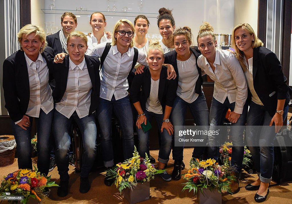 Germany Women's Return From The FIFA Women's Worldcup 2015 In Canada