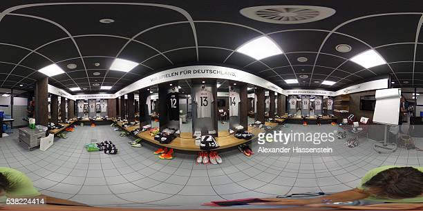The Germany dressiong roomprior to the international friendly match between Germany and Hungary at VeltinsArena on June 4 2016 in Gelsenkirchen...