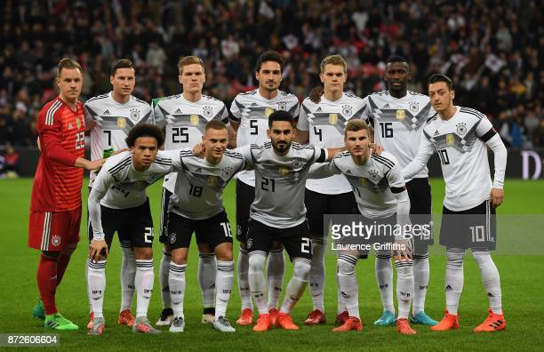 The Germany team line up for a team photo prior to the International friendly match between England and Germany at Wembley Stadium on November 10...