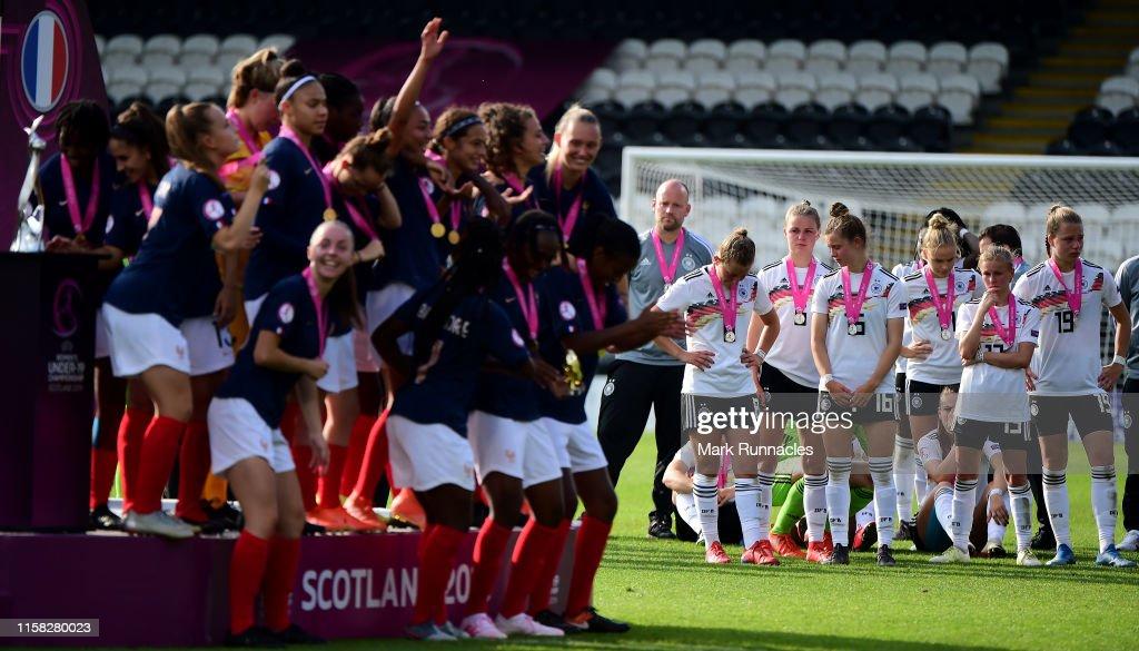 France Women's U19 v Germany Women's U19 - UEFA Women's Under19 European Championship : Photo d'actualité
