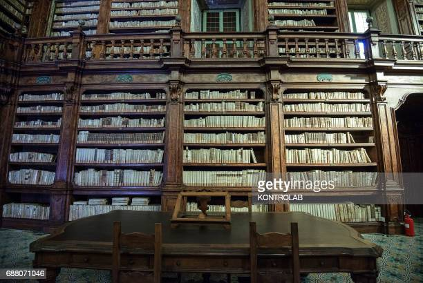 The Gerolamini´s historic library into Gerolomini´s Monumental complex in downtown Naples