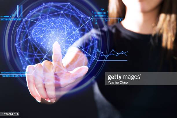 The gesture interface technology of human brain and data