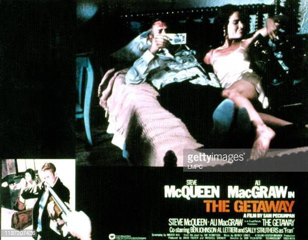 The Getaway lobbycard Steve McQueen Ali MacGraw 1972