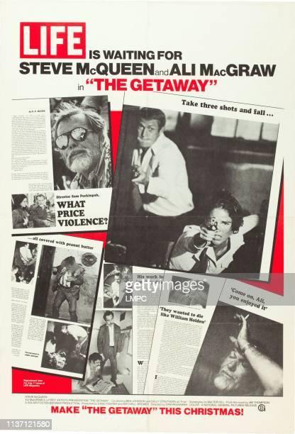 Sam Peckinpah Steve McQueen Ali MacGraw on US advance poster art 1972