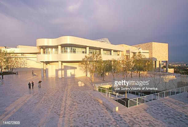 The Getty Center at sunset Brentwood California