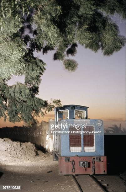The Gezira Light Railway at Wad El Shafie in the Sudan featuring a Hunslet 600mm gauge 080 diesel A picture made on this large Cotton carrying...