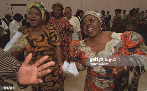 The Ghanaian Presbyterian CHURCH WITH ABOUT 400 MEMBERS MEETS IN ONE OF THE LRGE GYMS AT