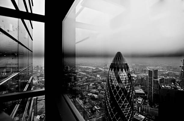 The Gherkin And The City Looking East Wall Art