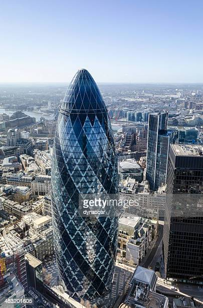 The Gherkin skyscraper in City of London financial district