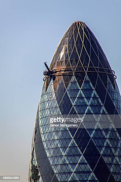 CONTENT] The Gherkin Swiss Re building by Sir Norman Foster in the City of London England UK Europe