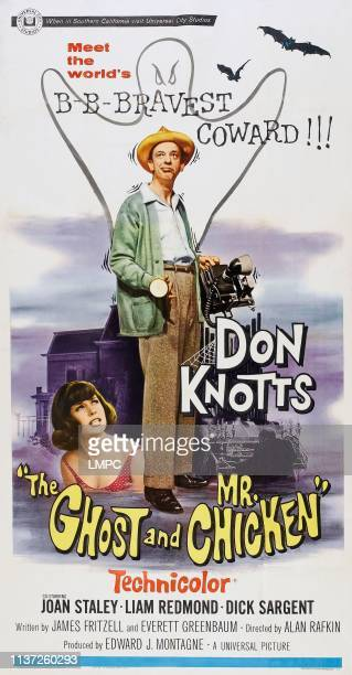 The Ghost And Mr Chicken posterThe Ghost And Mr Chicken US poster from left Joan Staley Don Knotts 1966