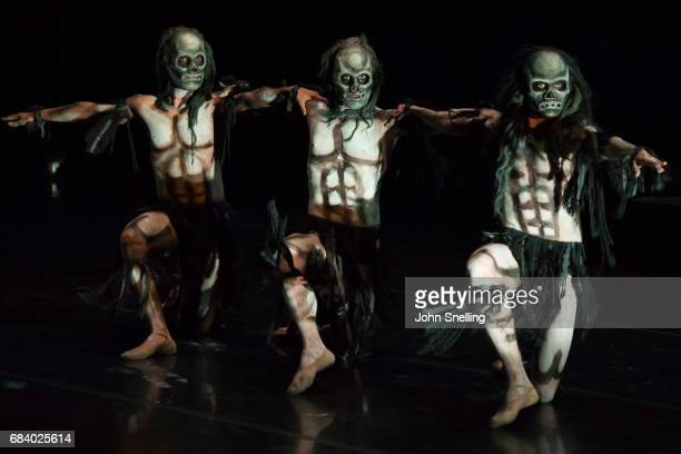 The Ghost Dancers on stage during a performance of Ghost Dances with Rambert Dance> at Sadler's Wells Theatre on May 16 2017 in London England