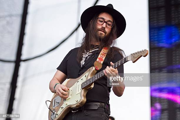 The Ghost Of A Saber Tooth performs during a concert as part of Corona Capital Festival day 1 at Hermanos Rodriguez Racetrack on October 11 2014 in...