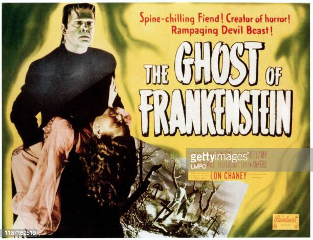 The Ghost Of Frankenstein, poster, Lon Chaney Jr featured on 1949.