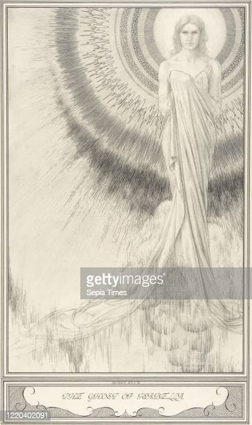 The Ghost of Isabella, The White Devil , circa 1930, Pen and ink and graphite, sheet: 16 3/16 x 9 1/2 in. , Drawings, Henry Weston Keen , Keen worked...