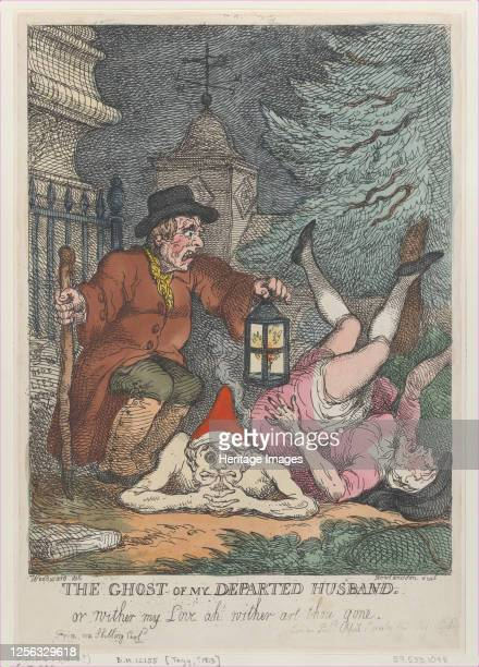 The Ghost of My Departed Husband or Wither my Love ah wither art thou gone April 1 1808 Artist Thomas Rowlandson