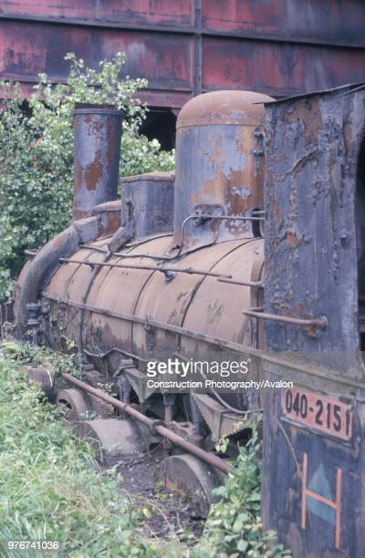The ghost of Olloniego Hartmann 080 No 2151 'El Cavado' of 1879 abandoned at Olloniego Colliery on Thursday 21st May 1987