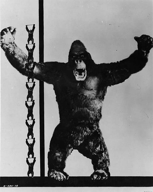 The giant ape, star of the Radio Picture 'King Kong',...