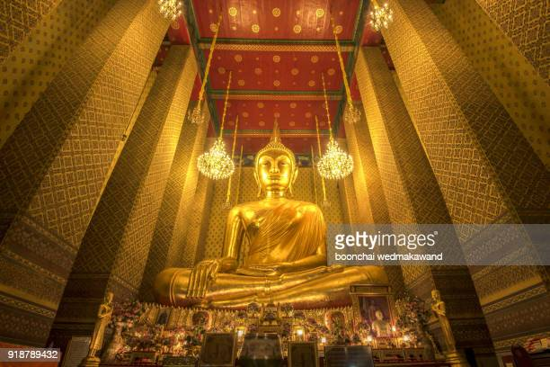 The Giant Buddha of Wat Kalayanamitr, Bangkok, Thailand
