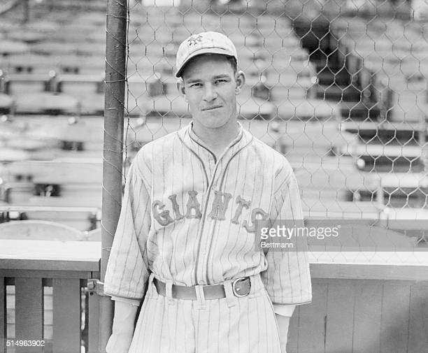 The Giants' baby home run slugger...Here is another new photograph of Melvin Ott, 20-year-old outfielder of the N.Y. Giants, who has stepped to the...