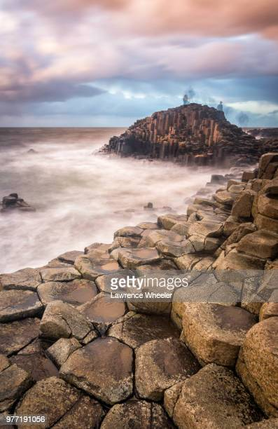 the giants causeway, antrim, northern ireland - county antrim stock pictures, royalty-free photos & images
