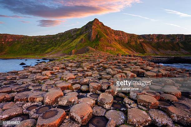the giants causeway, bushmills, county antrim - county antrim stock pictures, royalty-free photos & images