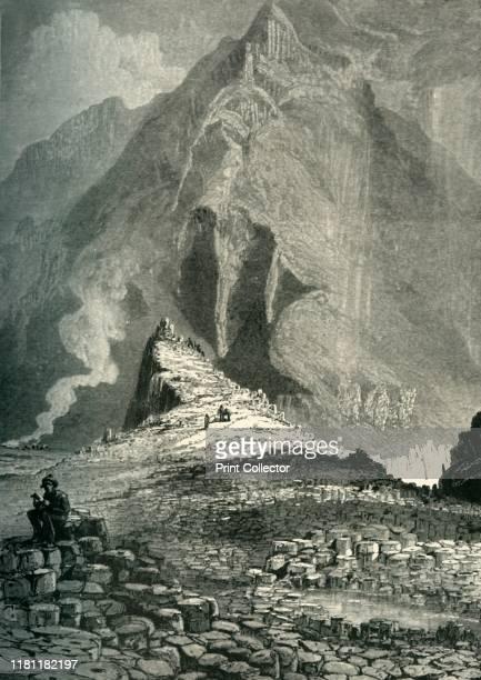 The Giant's Causeway' circa 1870 Interlocking volcanic basalt columns at UNESCO World Heritage Site the Giant's Causeway in County Antrim on the...