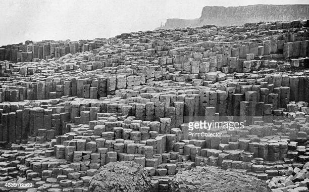 The Giant's Causeway, County Antrim, Northern Ireland, 1924-1926. Legend has it that the Irish giant, Finn McCool, built the Giant's Causeway in...