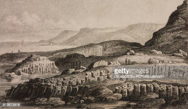 The Giant's Causeway near Bushmills Northern Ireland England United Kingdom engraving by Lemaitre from Angleterre Ecosse et Irlande Volume IV by Leon...
