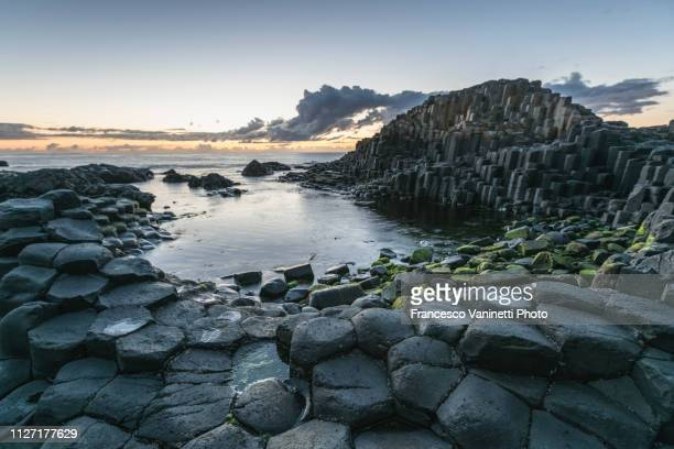 the giant's causeway, northern ireland. - basalt stock pictures, royalty-free photos & images