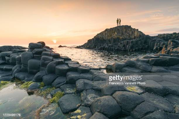 the giant's causeway, northern ireland. - coastline stock pictures, royalty-free photos & images