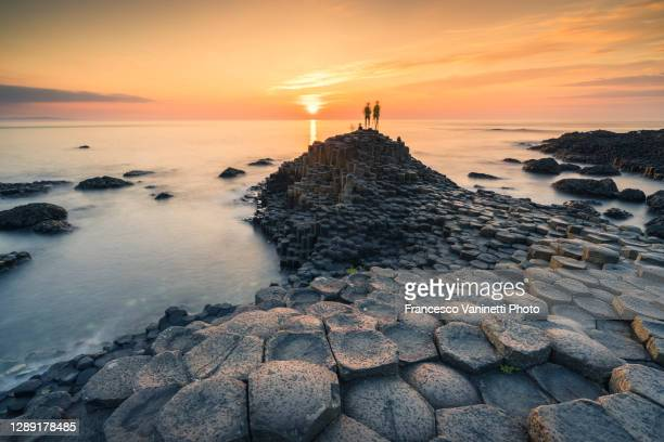 the giant's causeway, northern ireland, uk. - county antrim stock pictures, royalty-free photos & images