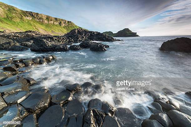 the giants causeway - county antrim stock pictures, royalty-free photos & images