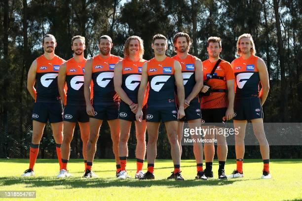 The GIANTS' eight foundation players Phil Davis, Stephen Coniglio, Toby Greene, Callan Ward, Nick Haynes, Matt Buntine, Adam Kennedy and Sam Reid...