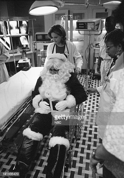 """The Gift"""" Episode 11 -- Air Date -- Pictured: Conni Marie Brazelton as Nurse Connie Oligario; Jason Edwards as Santa; Sherry Stringfield as Doctor..."""