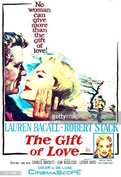 The Gift Of Love, poster, US poster, Robert Stack, Lauren Bacall, bottom right: Evelyn Rudie, 1958.